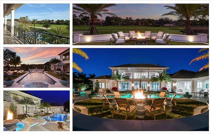 The outdoor living space of the Avignon at Quail West in Naples Florida took my breath away.