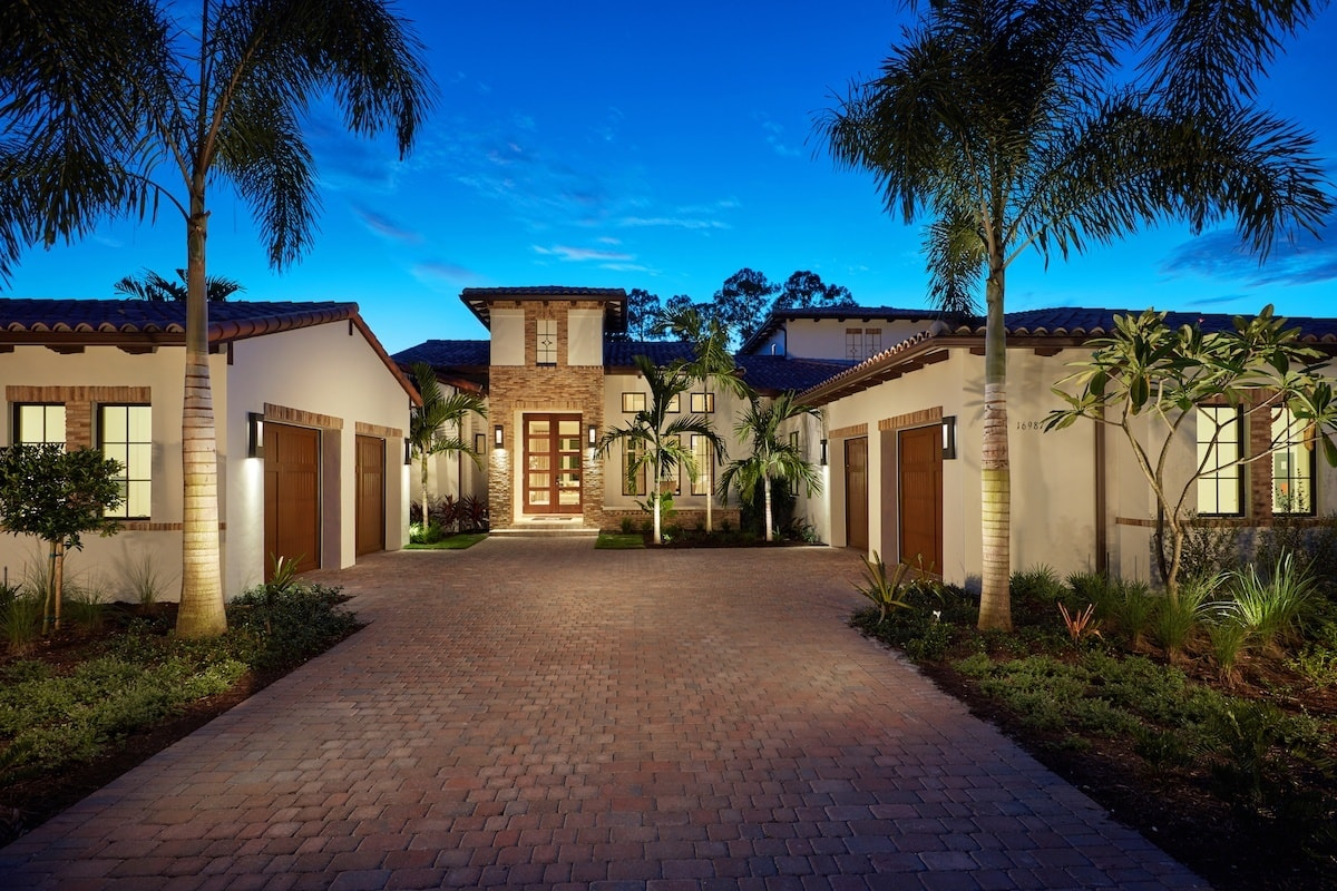 The Catalina Estate Model Home in Cortile at Mediterra Naples