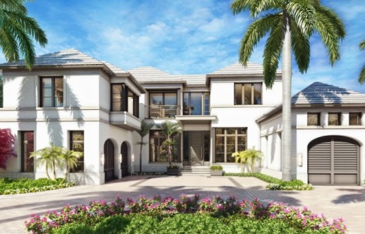 One of two luxury custom homes on Gordon Drive in Naples Florida