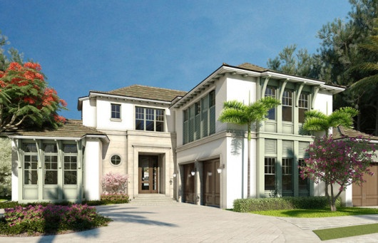 The second luxury custom home located on Gordon Drive in Naples Florida