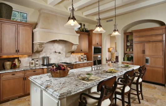 The kitchen in the Avena at The Lake Club embodies luxury living.