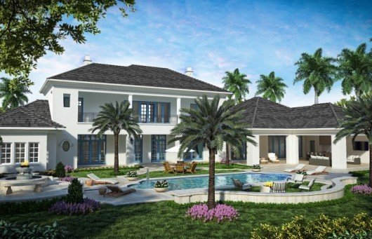 Southwest Florida Homes: The Avignon features a luxurious outdoor living space.