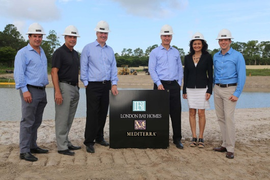 Southwest Florida luxury home builder, London Bay Homes, at the Caminetto groundbreaking in Mediterra.