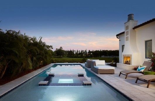 London Bay Homes' Capriano model wins for its stunning pool design by Acquatico