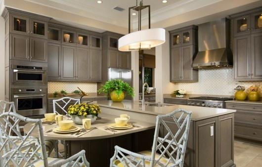 The kitchen in the Carina luxury villa home.