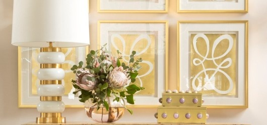 Emporium Home Gold and Blush Vignette