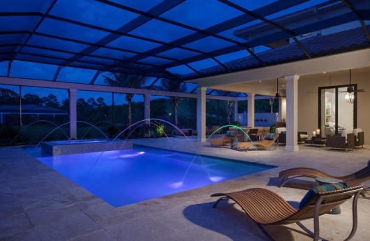 Custom pool in the Isabella Two-Story at Mediterra