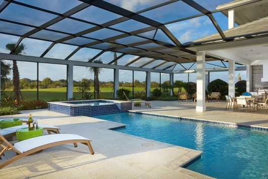 Sarasota New Homes: Outdoor living in the Isabella Two-Story in Sarasota FL.