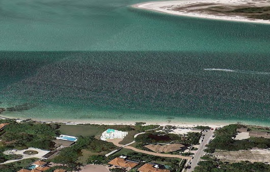 An aerial of the Solymar in Siesta Key