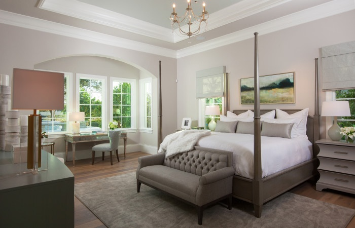 The Master Bedroom of the Avignon Custom Home