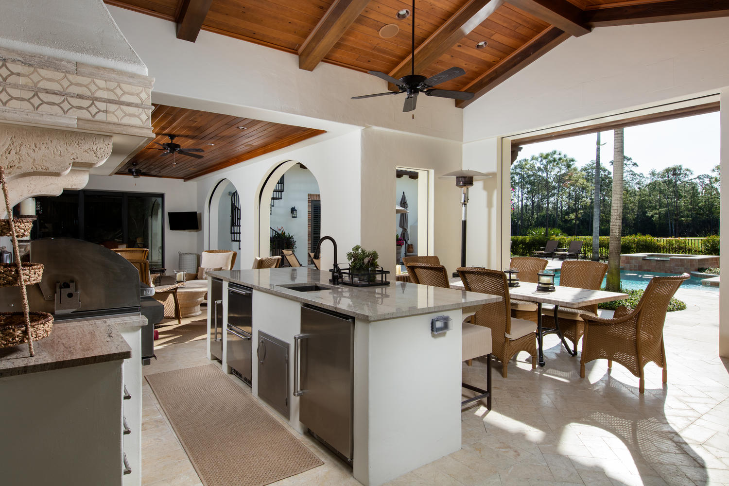 Luxury outdoor kitchens are on the list of must-haves for your outdoor living space.
