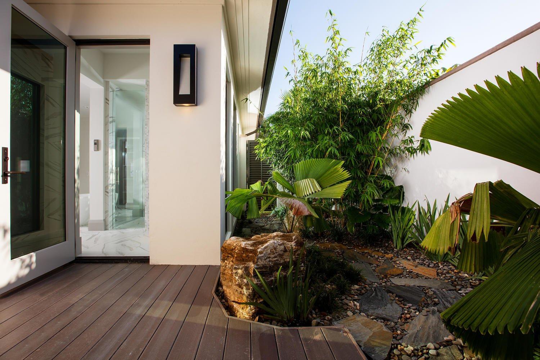 outdoor garden and vegetation landscaping