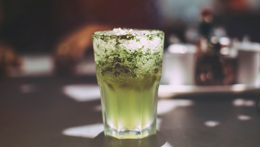 mojito without alcohol in glass
