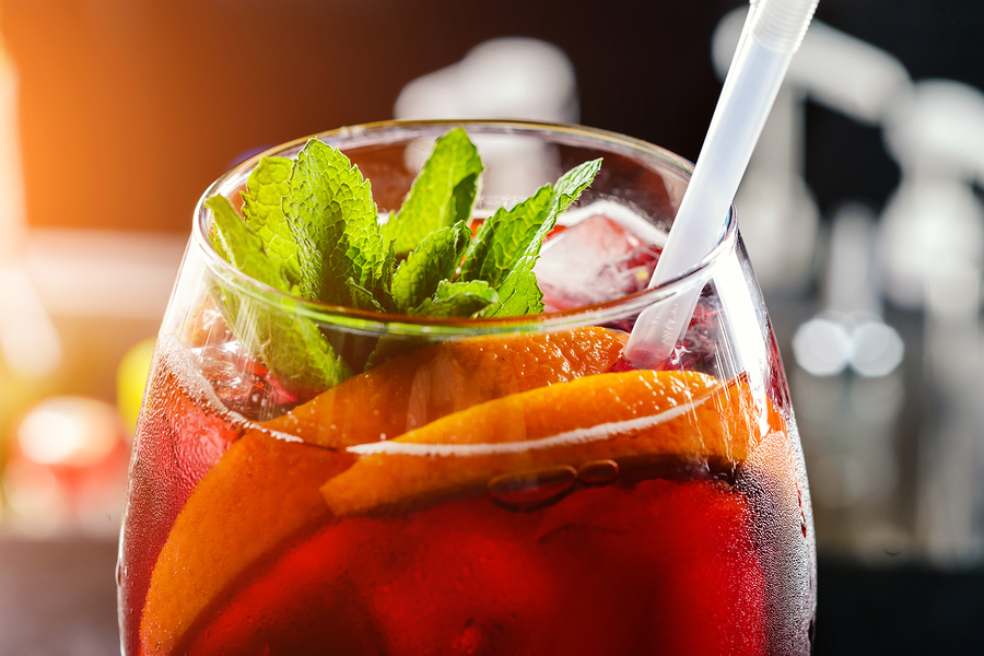 sangria in an glass cocktail