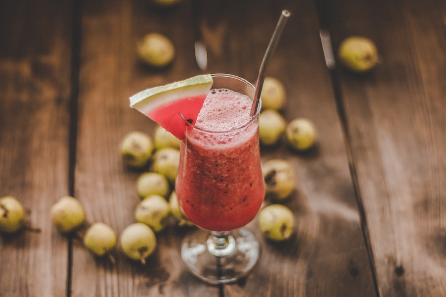 watermelon moscato slush cocktail