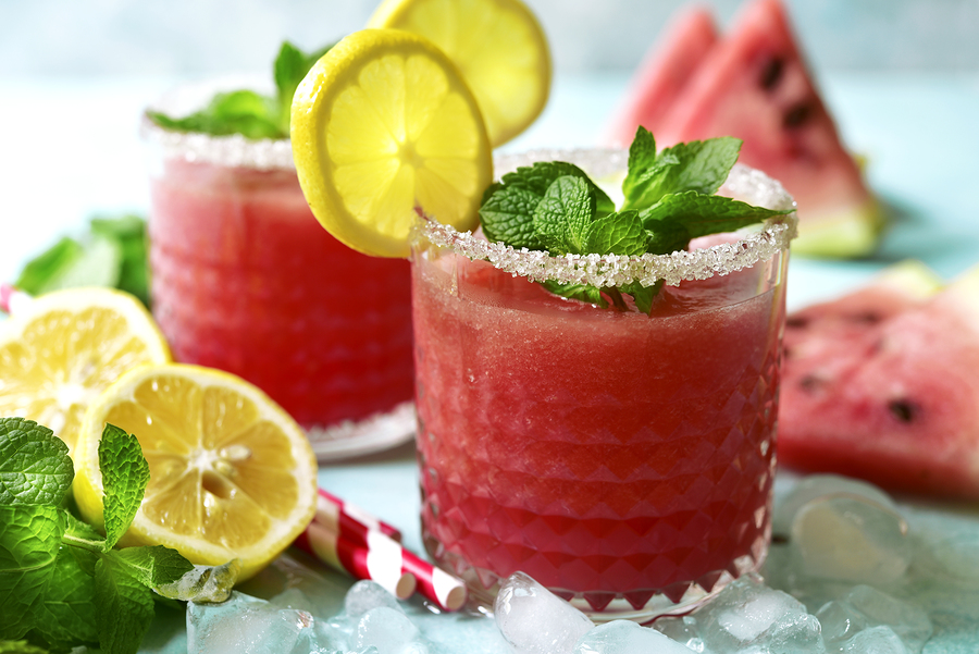 watermelon mint julep cocktail