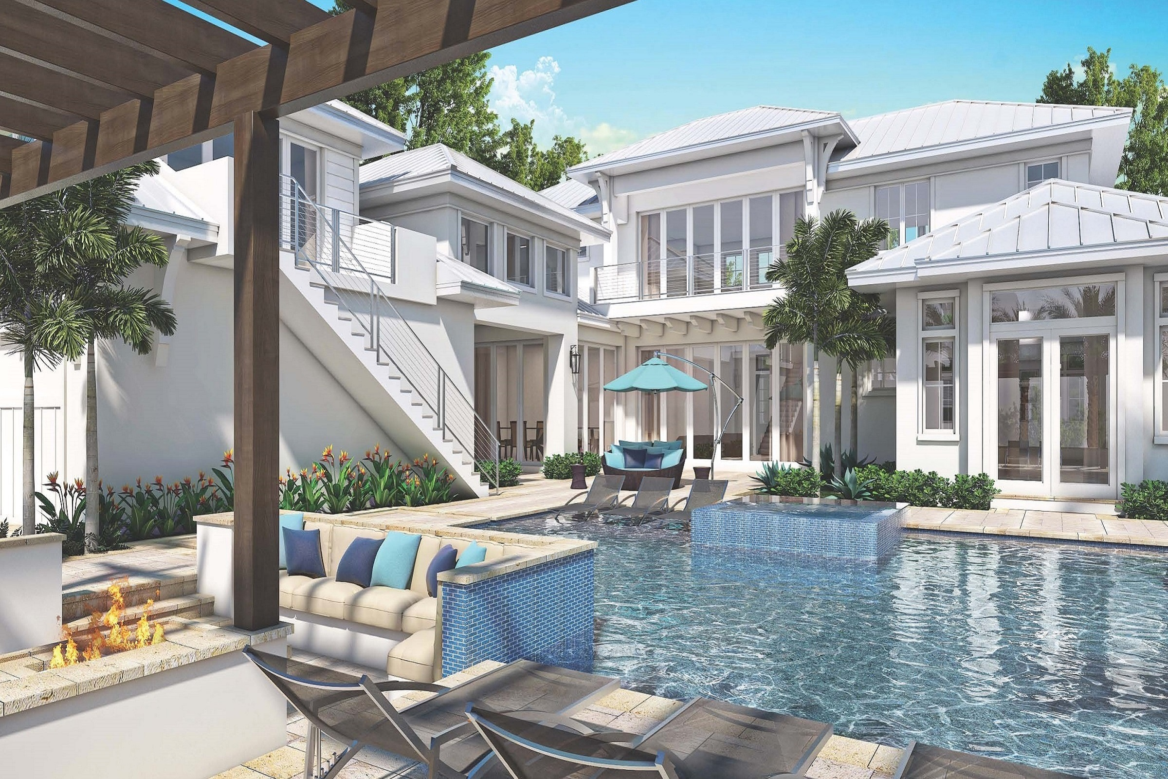 The Claremont blends indoor and outdoor living in Old Naples.